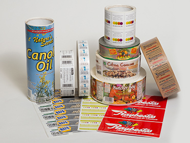 Custom Commercial Labels Sample