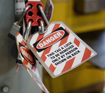 Danger Lockout Tagout Sample Label